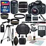 Canon EOS Rebel T6 DSLR Camera with EF-S 18-55mm f 3.5-5.6 IS II Lens - EF-S 55-250mm f 4-5.6 IS STM Lens - and Deluxe Accessory Bundle