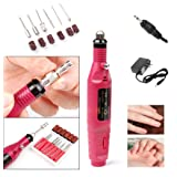 Nail Art Drill KIT , Aooher Professional Finger Toe Nail Care Electric Nail Polishing Machine Manicure Pedicure Kit Nail