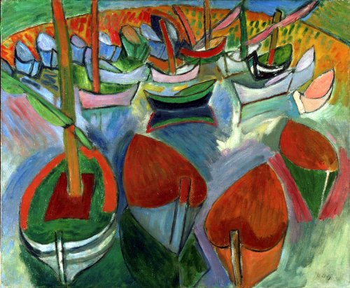 Raoul Dufy Boats Wooden Jigsaw Puzzle