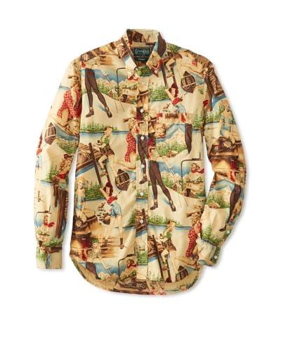 Gitman Vintage Men's Lady Print Long Sleeve Shirt
