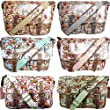 MISS LULU LYDC RETRO VINTAGE OWL LEAVES BUTTERFLY OILCLOTH LADIES CROSS BODY SATCHEL MESSENGER SHOULDER SCHOOL HAND BAG (Butterfly Beige)