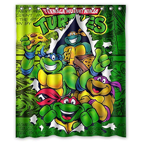 ZaZa Custom Teenage Mutant Ninja Turtles TMNT Bathroom Shower Curtain 66