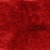 Garland Rug Finest Luxury Ultra Plush Washable Nylon Rug, 30-Inch by 50-Inch, Chili Pepper Red