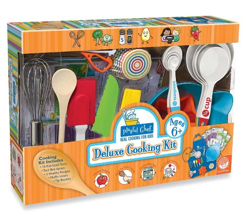 Playful Chef Deluxe Cooking Kit with Blue Apron (Cooking Kits For Children compare prices)