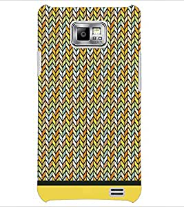 PrintDhaba Zig Zag Pattern D-1695 Back Case Cover for SAMSUNG GALAXY S2 (Multi-Coloured)