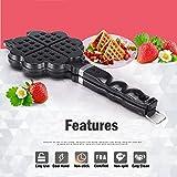 TAMUME-Cuisinire-daluminium-gaufrier-belge-Coeur-Waffle-Maker-4-Heart-Shaped-Slice