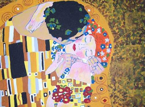 Gustav Klimt THE KISS Acrylic Painting Kit