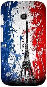 PRINTVISA Travel Paris Eifel Case Cover for Motorola Moto E (Multicolour)