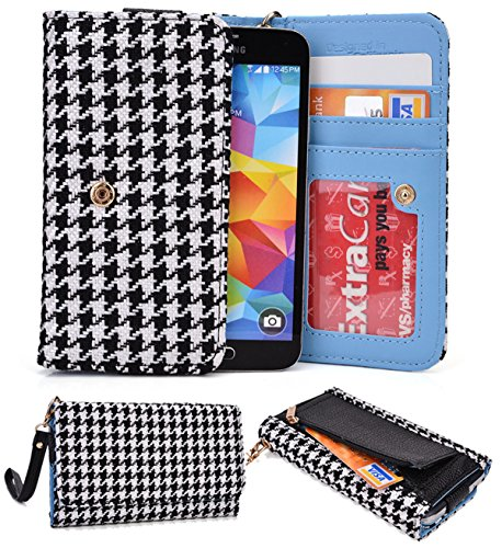Huawei Ascend D Quad Xl:Universal Case Clutch W/Id Slot, Zipperpocket[Black/White] Nuvur ™