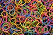 1000 small rubber bands- assorted colors