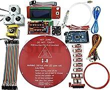 Sintron] Kossel Kit de mini Electronic Full para RepRap Impresora 3d Delta Rostock DIY con Bowden Hotend + MK8Extrusora + RAMPS 1.4+ LCD2004+ Mega 2560+ A4988+ NEMA 17Motor + endstop + redondo aluminio MK3Heatbed + filamento