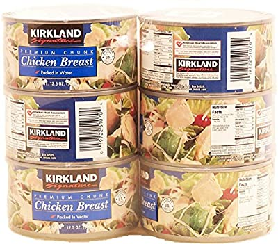Kirkland Signature Premium Chunk Chicken Breast Packed in Water, 12.5 Ounce, 6 Count by UCCI (European Credit and Commerce International)