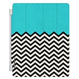 Enthopia Designer Front Smart Cover Old School Waves for Apple Ipad 2/3/4 with Transparent Back Case