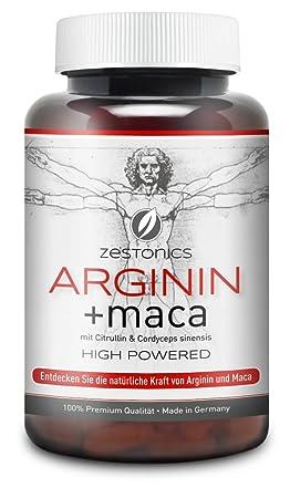 NEU: L-Arginin 2.400mg plus Maca 34.000mg HOCHDOSIERT mit Citrullin & Cordyceps – Arginin Base plus Maca Pulver in 120 Kapseln - Monatsbedarf