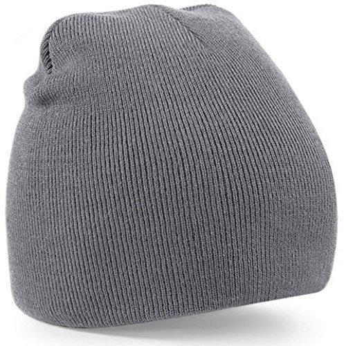 Berretti in Maglia Unisex, Ularma A maglia Beanie Hat signore del Mens unisex di lana inverno caldo Sci Calotta (GRIGIO)