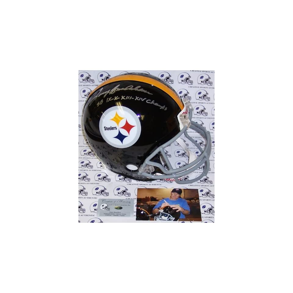 Terry Bradshaw Hand Signed Pittsburgh Steelers Throwback Authentic Helmet