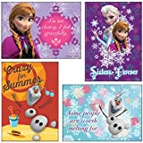 (Set/4) Disney Frozen Charater Magnets - Princess Anna, Elsa & Olaf Sayings