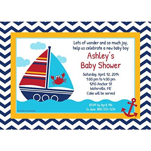 Ahoy Matey Nautical Baby Shower Custom Invitation front-530327