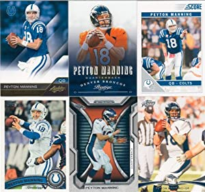Peyton Manning 10 Card Gift Lot Containing One Each of His 2013 Prestige, 2012 Topps... by Peyton Manning Gift Lot