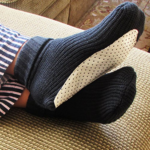 Knitting Shoes Suppliers : Anti skid high quality soft knitted slipper socks with