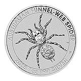 2015年 オーストラリア シドニージョウゴグモ・タナグモ・蜘蛛・1オンス 銀貨 31.1g シルバー コイン 純銀 1ドル 高級アクリルカプセル・クリアーケース付き