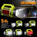 LE 1000lm Rechargeable Outdoor LED Spotlight, 10W CREE T6 LED Searchlight, Dimmable Camping Lantern, 3600mAh Power Banks, 3 Modes, SOS, LED Area Light, Waterproof, High Power Beam Flashlight Torch