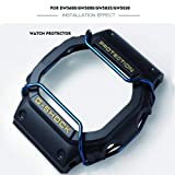 Supachis Watch Screen Protectors, Wire Watch Guard Protector Compatible with Casio Watch Case DW-5600 / GW5000/5035/5030 100% Metal Stainless Steel Bull Bar, Blue (Color: Sky Blue)