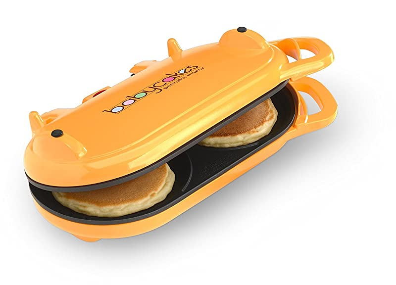 Babycakes Flip-Over Pancake Maker Orange via Amazon