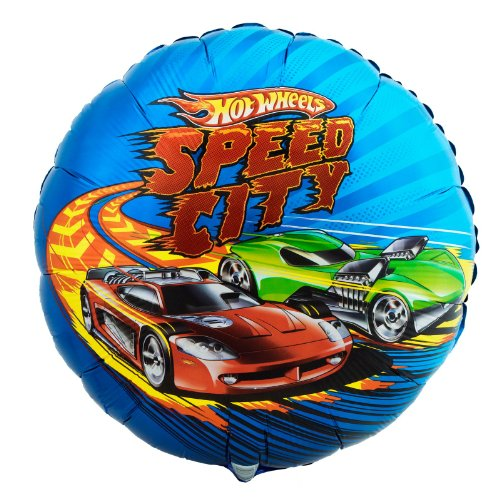 "Amscan Hot Wheels Speed City 18"" Metallic Balloon - 1"