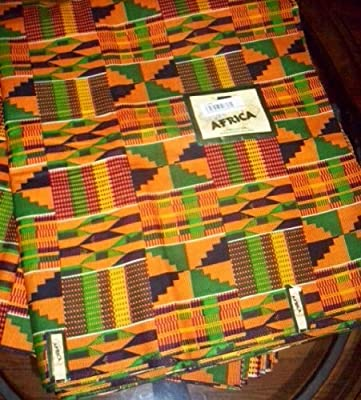 2 Yards African Textile Fabric Kente Cloth Ankara Print - #2