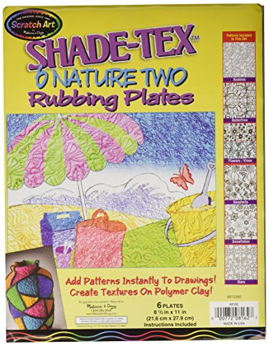 Melissa & Doug Shade-Tex Rubbing Plates - Nature Two Set
