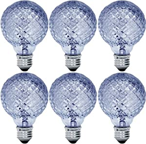 ge lighting 71374 reveal halogen 71374 60 watt 750 lumen g25 light bulb with medium base 6 pack. Black Bedroom Furniture Sets. Home Design Ideas