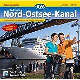 Quadrat-Spiralo BVA Radroute Nord-Ostsee-Kanal Die Straße der Traumschiffe Radwanderkarte 1:50.000