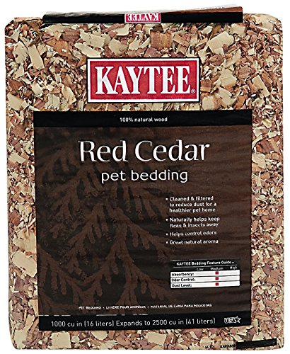 Kaytee Red Cedar Pet Bedding for Pet Cages, 1000 Cubic-Inch (Wood Shavings Bedding compare prices)
