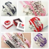 Justin Bieber belieber Multi Strap charm bracelet with JB Special Gift Box