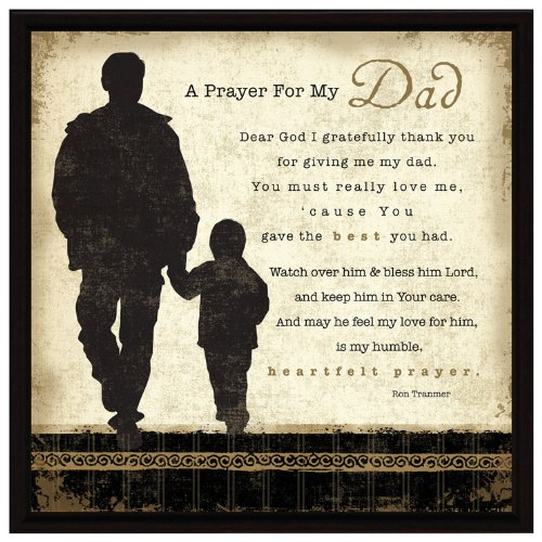 A Prayer for My Dad Framed Wall Plaque