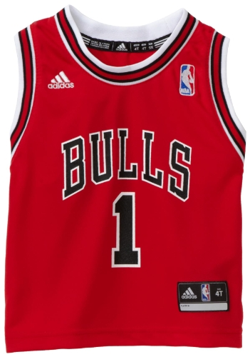 NBA Toddler Chicago Bulls Derrick Rose Away Replica Jersey - R24E6Bb5 (Red, 3T) at Amazon.com