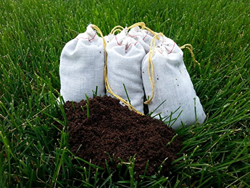 "5 Vermicompost ""Worm"" Tea Bags (Each Bag Makes 2.5 Gallons Of Tea)"