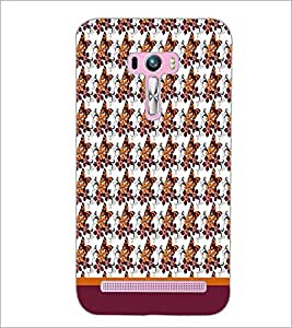 PrintDhaba Butterfly Pattern D-1614 Back Case Cover for ASUS ZENFONE SELFIE ZD551KL (Multi-Coloured)