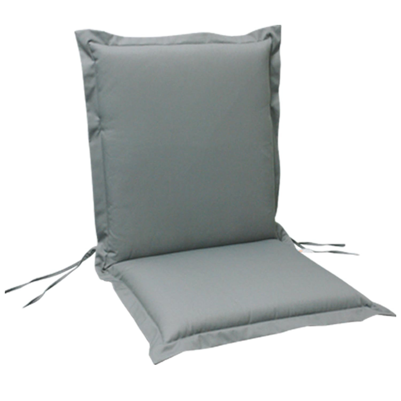 indoba® IND-70421-AUNL-6 – Serie Premium – Gartenstuhl Auflage – Niedriglehner, extra dick, Grau – 6 Stück günstig