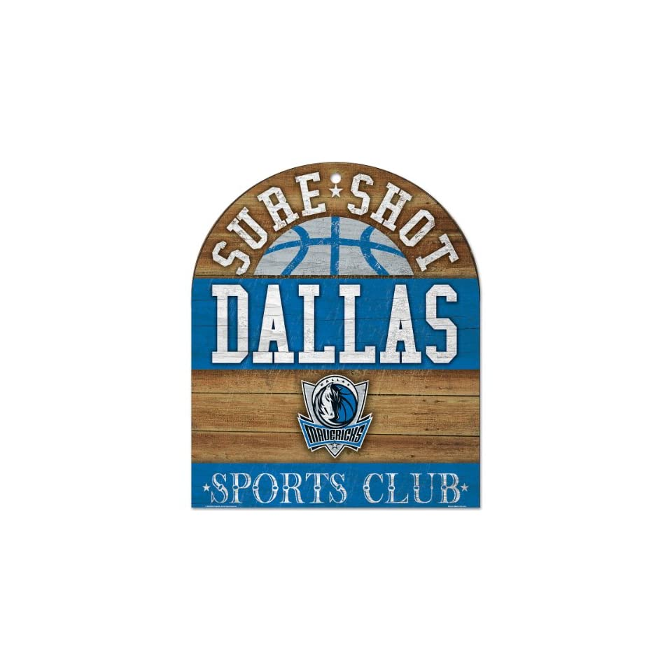 Wincraft Dallas Mavericks Sports Club Wood Sign on PopScreen