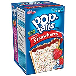 Kellogg\'s Pop Tarts Strawberry, Frosted, 8 ct, 14.7 oz