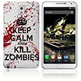 Samsung Galaxy Note 3 Hard Plastic (PC) Case - Keep Calm and Kill Zombies Red/White Cover