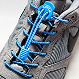 LOCK LACES (Elastic Shoelace and Fastening System) (Blue)