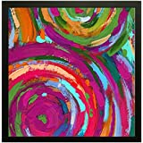 Printelligent Exclusive Framed Wall Art Paintings For Living Room And Bedroom. Frame Size (12 Inch X 12 Inch, (Wood, 30 Cm X 3 Cm X 30 Cm, Special Effect Textured)