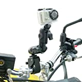 Tough-Claw Handlebar Mount with Double Socket Swivel Arm for GoPro Hero Camera (sku 30617)
