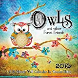 Owls and Other Forest Friends 2016 Wall Calendar by Trends International