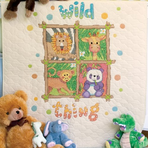 Dimensions Needlecrafts Stamped Cross Stitch, Wild Thing Quilt front-312402