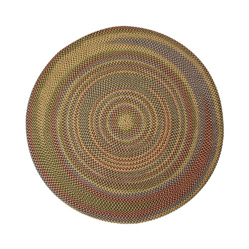 ITM Monticello Indoor/Outdoor Reversible Round Braided Rug, 8-Feet, Natural