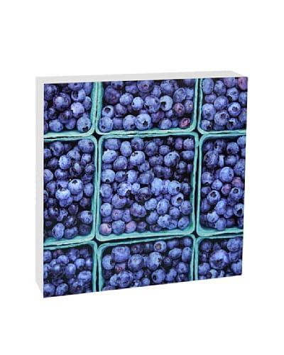 Art Block Blueberries -Fine Art Photography On Lacquered Wood Blocks